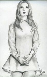 Dibujos a lápiz de hermosas mujeres (10)