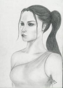 Dibujos a lápiz de hermosas mujeres (15)