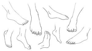 15 imágenes de dibujos a lápiz de manos y pies (14)