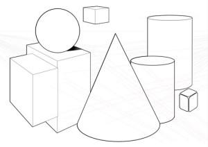 Dibujos geométricos a lápiz (2)