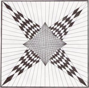 Dibujos geométricos a lápiz (5)