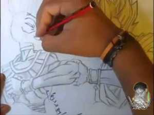 Dibujos a lápiz de dragon ball z (2)