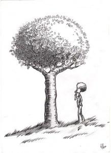 10 Bonitos dibujos a lápiz de árboles (5)