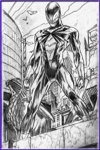 10 Dibujos a lapiz de Spiderman (9)