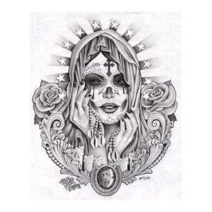 11 dibujos a lápiz de la santa muerte (11)