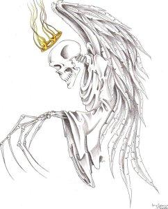 11 dibujos a lápiz de la santa muerte (3)