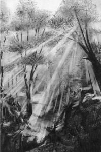10 Dibujos a lápiz de paisajes (5)