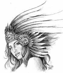 10  dibujos a lápiz aztecas (3)