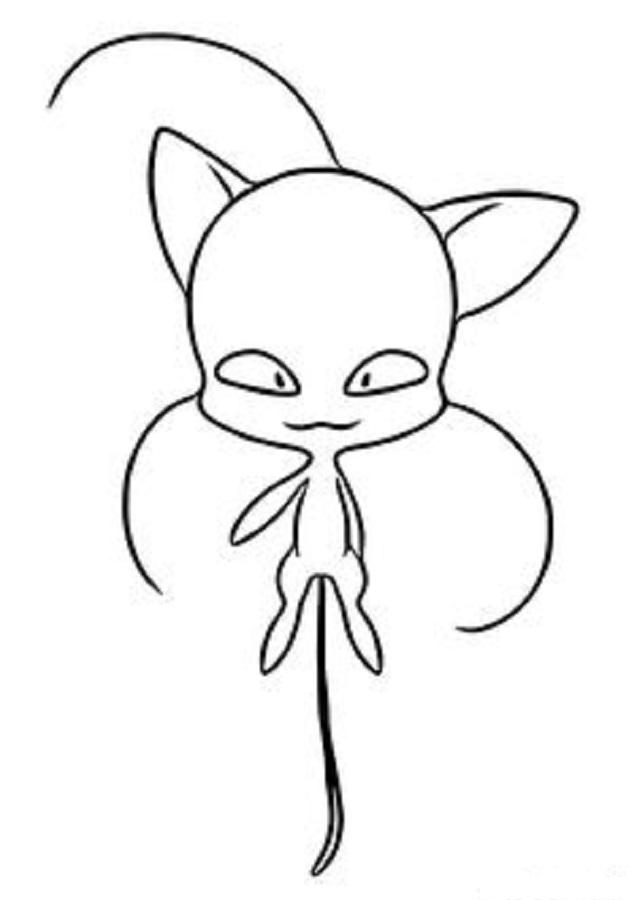 dibujos para colorear ladybug y chat noir