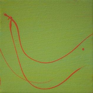 "Contrasts CXCIV (194), 5""x5"", acrylic on canvas"