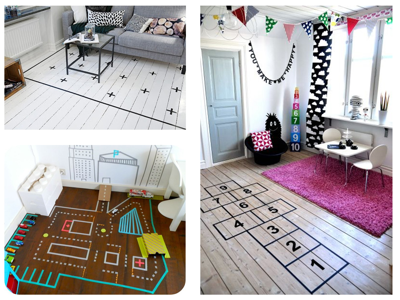 Alfombra Rayuela Decorar Con Washi Tape
