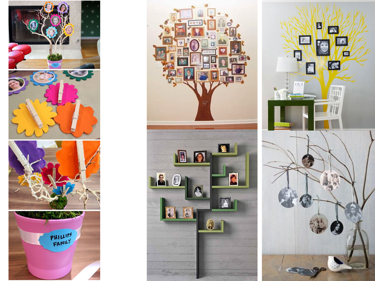 Como Decorar Una Pared Con Fotos 60 Brillantes Ideas Para Decorar Con Fotos Familiares
