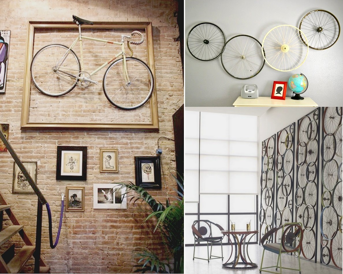 Paredes Decoradas Originales 7 Originales Ideas Para Reciclar Bicicletas