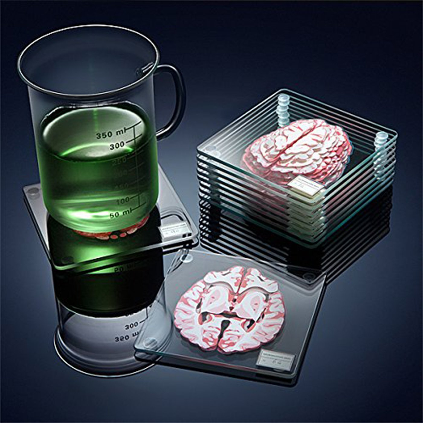 Cool Bar Coasters Brain Specimen Coasters Didn 39t Know I Wanted That