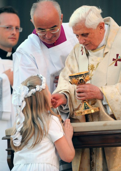 Receiving First Holy Munion