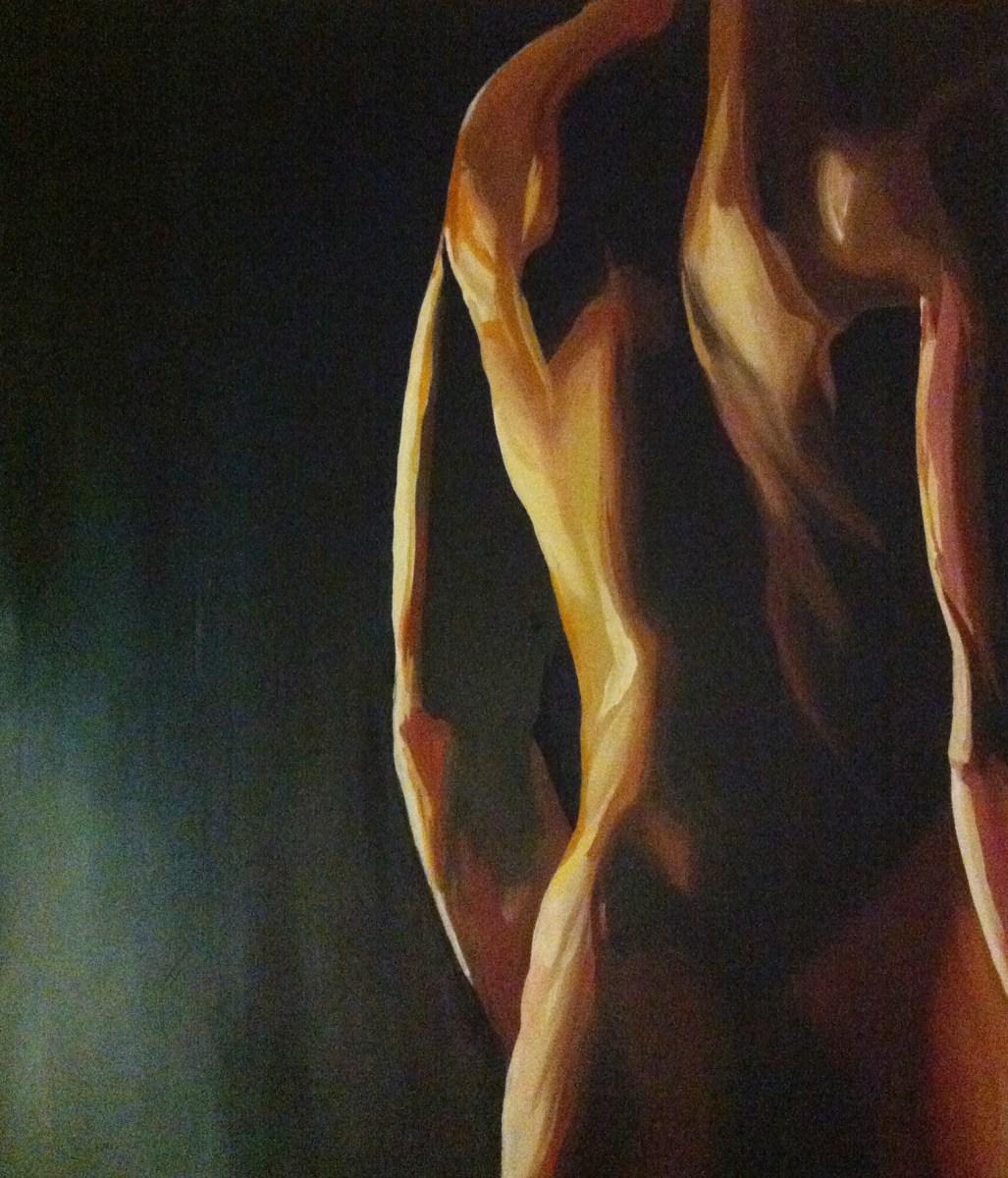 "die artige / ""Back"", 80cm x 100cm, Acryl und Öl auf Leinwand"