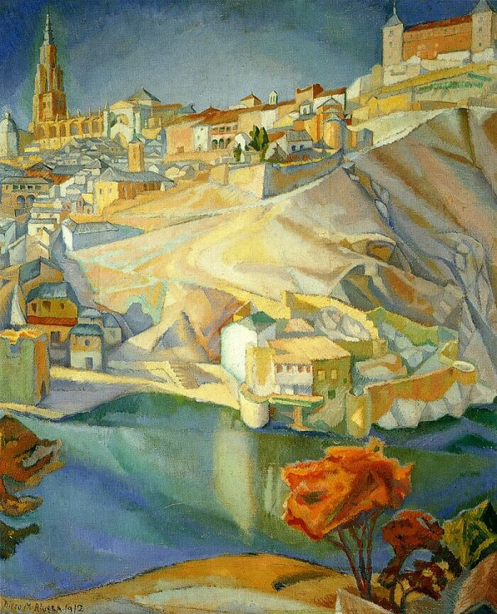 Paul Cezanne Cuadros View Of Toledo, 1912 By Diego Rivera