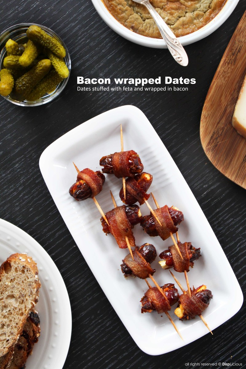 BACON-WRAPPED DATES STUFFED WITH FETA