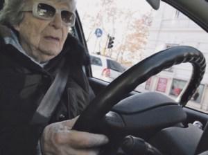 European Grandma on the road, crossing Europe. Filmstill: Giorgia Polizzi