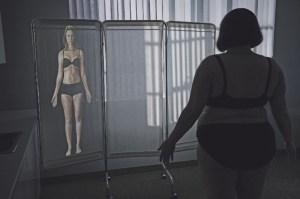 """""""Alicia """"Plum"""" Kettle imaginiert ihren postoperativen Körper in der Serie Dietland. Pressefoto Amazon"""