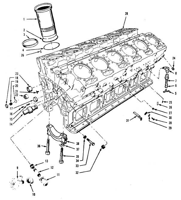 Figure 13-50 Cylinder Block, Exploded View