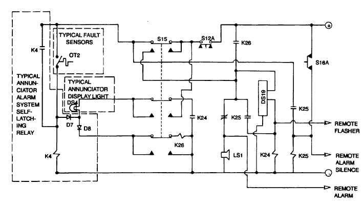 Figure 10-1 Annunciator Alarm System, Simplified Schematic Diagram