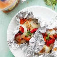 Italian Chicken and Vegetables In Foil