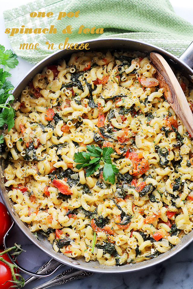 One Pot Spinach & Feta Macaroni And Cheese Recipe | Diethood