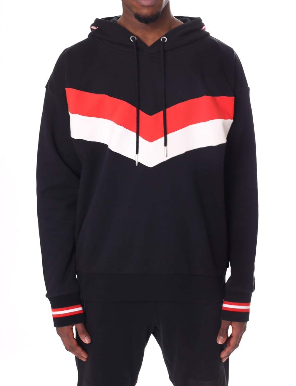 Pullover Hoodie Cut Diesel Men S S Lisa Chevron Pullover Hooded Sweat Top