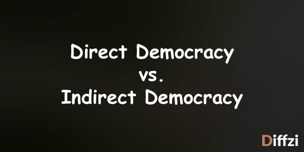 direct democracy vs indirect democracy