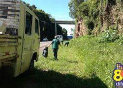 Secretarias da Prefeitura de Bento realizam mutirão de limpeza na BR-470