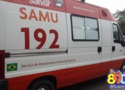 Ciclista fica ferido em acidente no bairro Planalto em Bento