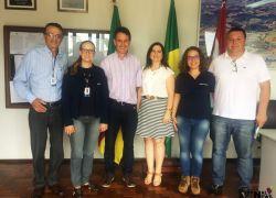 Regional da Emater/RS-Ascar visita prefeitura de Pinto Bandeira
