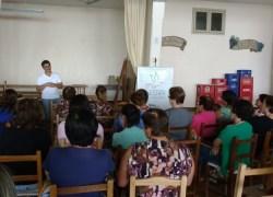 Mulheres de Faria Lemos, no interior de Bento, participam de palestra de prevenção ao câncer