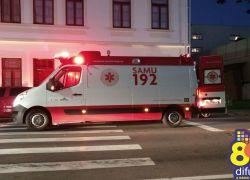 Ciclista se lesiona após queda no Planalto em Bento