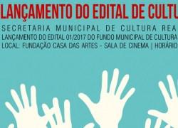 Inscrições de Projetos para o Fundo Municipal de Cultura iniciam no dia 18