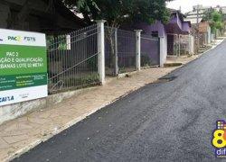 Asfaltamento no bairro Municipal, em Bento, está concluído