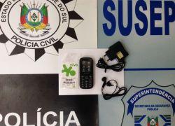 Professora é presa em flagrante entregando celular a detento do Presídio de Canela