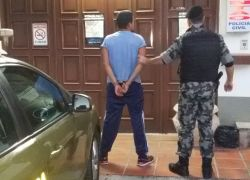 Foragido preso no Universitário em Bento