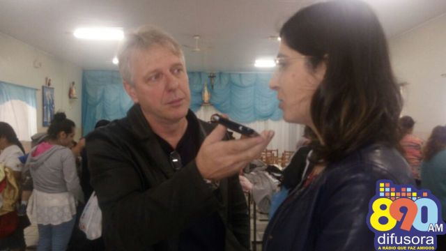 Rogério Paulo Rockenbach entrevista a 1ª dama, Cynthia Pasin.
