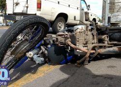 Adolescentes ficam feridos depois de acidente na Osvaldo Aranha em Bento