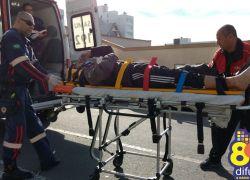 Motociclista fica ferido em acidente no centro de Bento