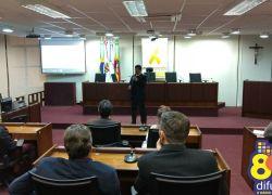 Ex-comandante do 3º BRBM palestra sobre trânsito em Bento