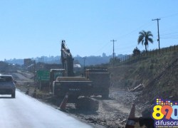 Obras no Trevo da Telasul na BR-470 estão 70% concluídas, diz Dnit