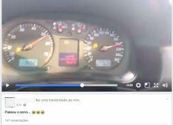 PRF flagra condutor em alta velocidade na Freeway fazendo transmissão ao vivo pela rede social