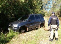 PRF recupera veículo roubado na BR-470 em Bento