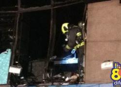 Bombeiros controlam incêndio no centro de Bento