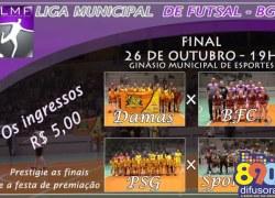 Noite para conhecer os campeões da cidade na Liga Municipal de Futsal