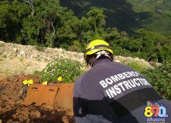 Alunos bombeiros participam de instrução com bombeiros chilenos em Bento