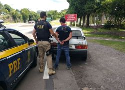 Foragido é preso  e veículo recuperado pela PRF na BR 470 em Bento